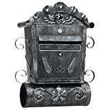Antique Style Mailbox Post Box Letterbox with Newspaper Slot Anthracite GMB002