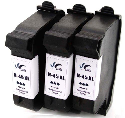 3 x Refill Druckerpatronen ersetzen HP 45XL Black für HP DESKJET 710 C / 712 C / 720 C / 722 C / 750 / 750 C / 755 / 755 C / 815 C / 820C / CSE / CXI / 830 C / 832 C / 850 Serie / 870 C / 870 CSE / 870 CSI / 870 CXI / 880 C /882 C /890 C / CSE / CXI / 895 CSE / CXI / 930 C / CM / 932 C / 935 C / 950C / 952 C / 959 C / 960 C / 960 CSE / 960 CXI / 970 CSE / 970 CXI / 980 C / 980CXI / 990 C / CM / CSE / CXI / 995 C / 1000 / C / CSE / CXI / 1100 C / 1120 C / CSE / CXI 1125 C / 1180 C / 1180 CSE / 11