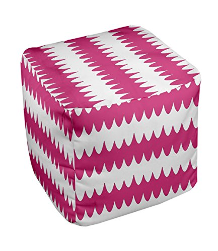 E by design FG-N20-Fushia-18 Geometric Pouf