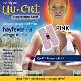 Qu-Chi Acupressure Band - Pink - Clinically Proven Relief Hayfever & Allergic Rhinitisby Qu-Chi