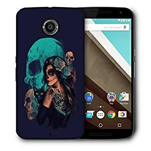 Snoogg Day Of The Dead Printed Protective Phone Back Case Cover For LG Google Nexus 6