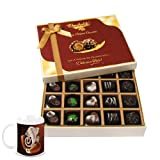 Chocholik Belgium Chocolates - Beautiful 20 Pc Mix Assorted Chocolate Box With Diwali Special Coffee Mug - Diwali...