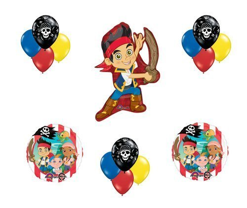 Jake & The Neverland Pirates Crew Birthday Balloon Bouquet Set Party Cubby Izzy