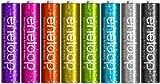 SANYO eneloop tones glitter 充電式ニッケル水素電池(単4形8色限定ラメ入りカラーパック) HR-4UTGA-8SL