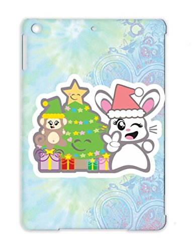 Starr Candy Christmas White Japanese Christmas Holidays Occasions Anime Monkey Cute Designs Baby Tree Bunny Babys First Christmas White Case Cover For Ipad Air Tpu front-440211