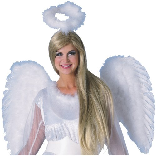 RG Costumes Angel Halo with Marabou Costume (Red Marabou Halo)