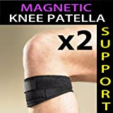 MAGNETIC Knee Patella Support Strap - Provide compression against the Patella Tendon to support and ease the pain of damaged or weak knee jointsby Great Ideas