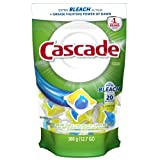 Cascade ActionPacs Dishwasher Detergent with Extra Bleach Action, Lemon Scent, 20-Count