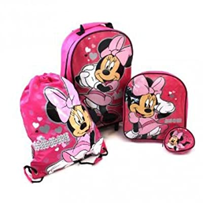 Minnie Mouse Luggage Set - Pink - Includes Trolley bag, backpack, purse & Swimbag by Trademark Collections