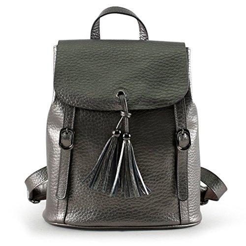 HB100510C2 Genuine Leather Korean Version Women's Handbag,Vertical Section Square Backpack