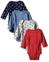Carter\'s Baby Boys\' 4 Pack Sport Bodysuits (Baby) - Navy - 3M