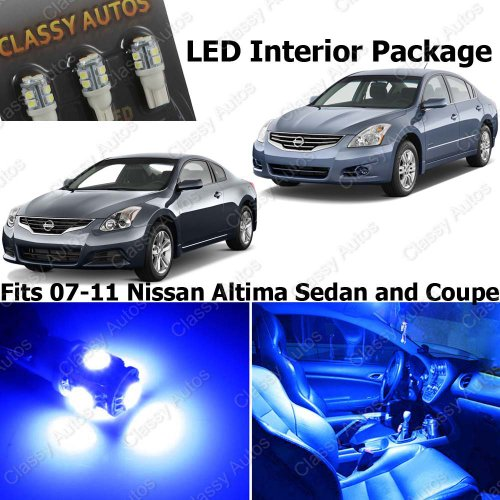 Nissan Altima Blue Interior Led Package (7 Pieces)