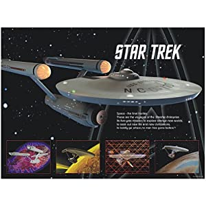Star Trek USS Enterprise Jigsaw Puzzle Includes Classic Opening Narration