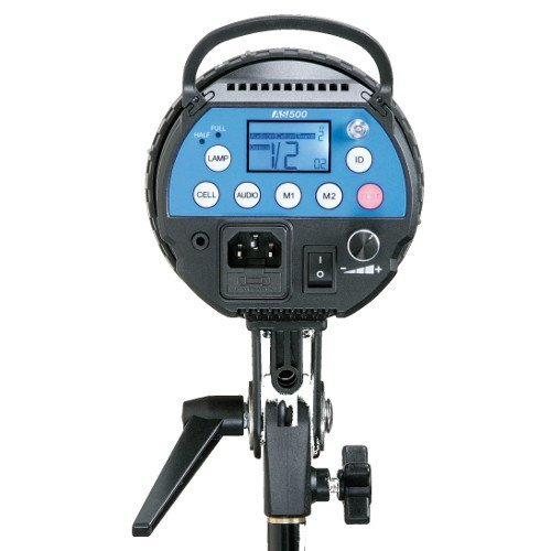 Calumet Genesis 500 Auto Sensing Studio Flash Unit With Led Modelling Lamp, And Built-In Genesis Wireless Receivers For Remote