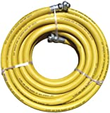 "JGB Eagle Yellow Jackhammer Rubber Air Hose, 3/4"" Universal (Chicago) Couplings, 50' Length"