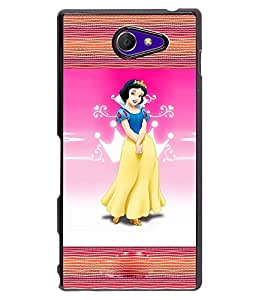 Fuson 2D Printed Girly Designer back case cover for Sony Xperia M2 - D4131