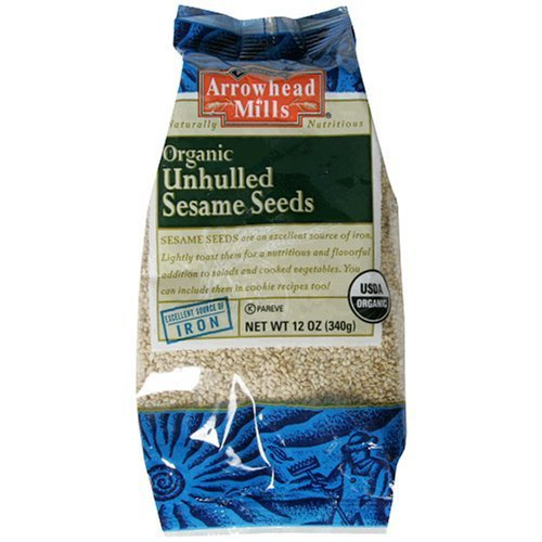 Arrowhead Mills Organic Unhulled Sesame Seeds 12-Ounce (Pack Of 3)
