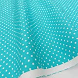 Always Knitting And Sewing Half X Metres Cotton Poplin Polka Dot Fabric 44 Inches Wide, Turquoise
