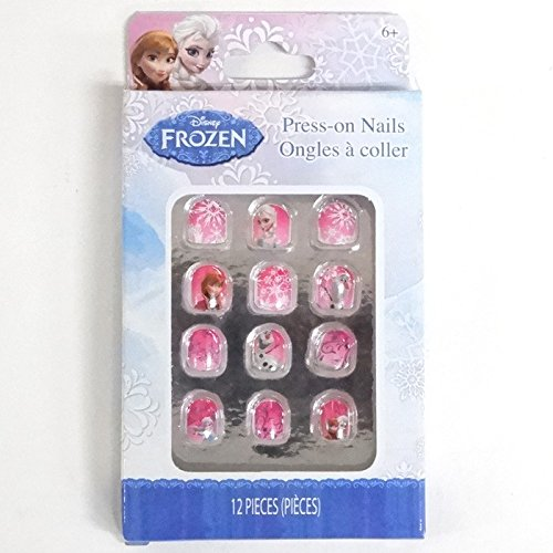 2 Pk, Disney Frozen Press On Nails 12/Pack (Total of 24) - 1