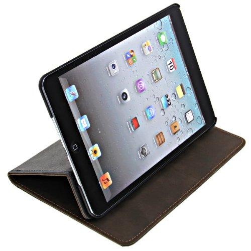 高級PUレザー スマートケース ブック型 AppleのiPadミニ用防水ケース スタンドケースオートスリープ機能付 ブラウン PU Leather Case for iPad mini