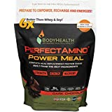 BodyHealth PerfectAmino Complete Power Meal Replacement Shake (Dark Chocolate, Pouch, 20 Servings), Organic Protein Powder Drink w/MCT Oil, Probiotics, Vegan, High Nutrition, for Weight Loss Diet (Tamaño: Pouch, 20 servings)