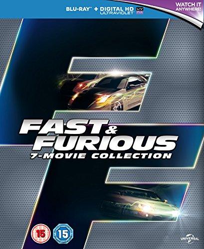 Fast & Furious Collection - 7-Disc Box Set ( The Fast and the Furious / 2 Fast 2 Furious / The Fast and the Furious: Tokyo Drift / Fast & Furious 4 / Fas [ Blu-Ray, Reg.A/B/C Import - United Kingdom ]