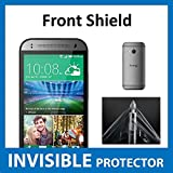 HTC One Mini 2 Front INVISIBLE Screen Protector (Front Shield included) Military Grade Protection Exclusive to ACE CASE