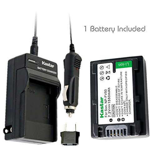 Kastar Battery (1-Pack) and Charger Kit for Sony NP-FV30, NP-FV40, NP-FV50 work with Sony DCR-SR88, SX85, FDR-AX100, HDR-CX105, CX110, CX115, CX130, CX150, CX155, CX160, CX190, CX305, CX330, CX350V, CX360V, CX380, CX430V, CX520V, CX550V, CX560V, CX580V, CX700V, CX760V, CX900, HC9, PJ200, PJ230, PJ260V, PJ340, PJ380, PJ430V, PJ540, PJ580V, PJ650V, PJ710V, PJ760V, PJ790V, PJ810, TD10, TD20V, TD30V, XR150, XR155, XR160, XR260V, XR350V, XR550V, HXR-NX3D1U, NX30U, NX70U, NEX-VG10, VG30, VG30H, VG900 (Power Charger Sx Sony compare prices)