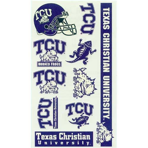 TCU Horned Frogs Official NCAA 4 inch x 7 inch Temporary Tattoos by Wincraft