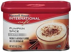 Maxwell House International Cafe Cafe-Style Beverage Mix, Pumpkin Spice Latte, 9 oz