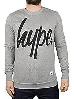 Hype Homme Script Logo Sweatshirt, Gris