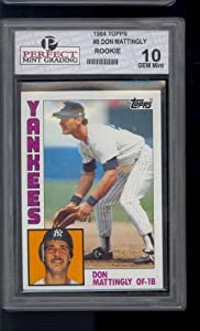 1984 Topps #8 Don Mattingly Yankees HOF Rookie Graded Perfect Grading GEM Mint 10