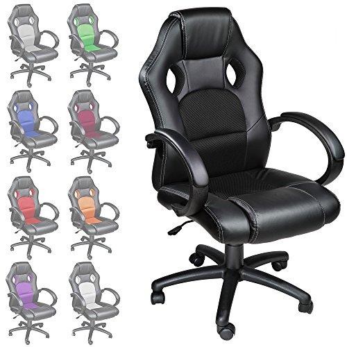 acheter tectake chaise fauteuil si ge de bureau hauteur r glable spo. Black Bedroom Furniture Sets. Home Design Ideas
