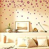 VivReal® Room Art Decoration Mural Wall Sticker Decal PVC Flower