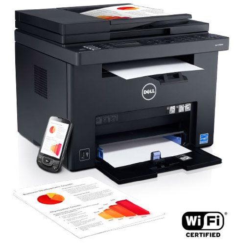 Dell C1765Nfw Color Laser Multifunction Printer/Scanner/Copier/Fax Machine (All-In-One) With Wifi