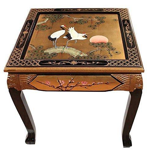 Pintado a mano on hoja de oro grulla dise o mesa de centro - Muebles orientales segunda mano ...