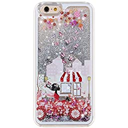 iPhone 6S Case, ikasus [Slim Fit] Butterfly Flower Beautiful [Faery Angel Girls] Printing Flowing Liquid Floating Bling Glitter Sparkle Stars Hard Case for Apple iPhone 6S (2015)/ iPhone 6 , Faery #4
