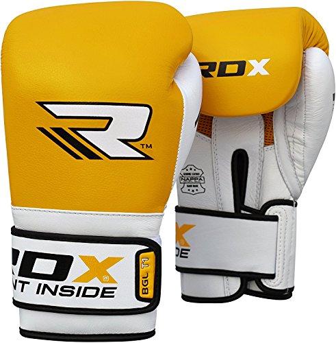 RDX Pelle Di Vacchetta Guantoni Boxe Sacco Guanti Muay Thai kick Boxing Allenamento Gloves Pugilato