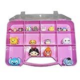 Tsum Tsum Compatible Organizer Storage Box - Tzum Tzum Case Holds Over 50 Figures - Pink