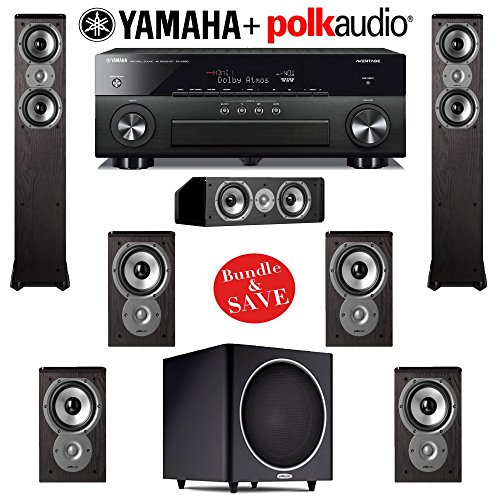 Video review polk audio tsi 300 7 1 home theater system for Yamaha 7 2 home theatre system
