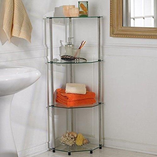 Convenience Concepts Classic Glass 4 Tier Corner Shelf
