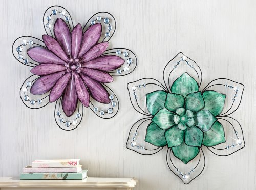 Purple Floral Wall Art - Elitflat