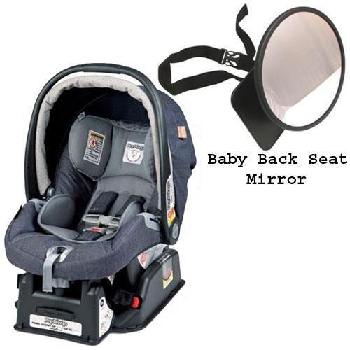 Peg Perego Primo Viaggio sip 30 30 Car Seat w Back Seat Mirror Denim ...