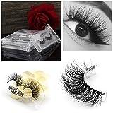 Vanlov 3D Mink False eyelash Reusable 100% hand made fake eyelashes for Make-up 1 Pair Package (1-Pack)