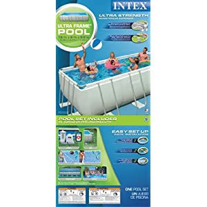 Intex 54481EG 9-Feet by 18-Feet by 52-Inch Ultra Frame Rectangular Frame Pool Set