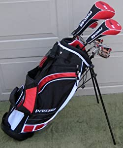 Mens Left Handed Complete Golf Club Set Driver, Wood, Hybrid, Irons, Wedge, Putter... by PreciseGolf Co.