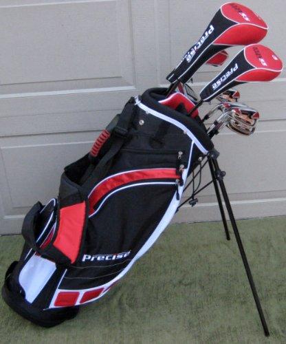 "Tall Mens Left Handed Complete Golf Club Set Driver, Wood, Hybrid, Irons, Wedge, Putter Bag Fits Taller Men 6'0""-6'6"" Lefty LH"