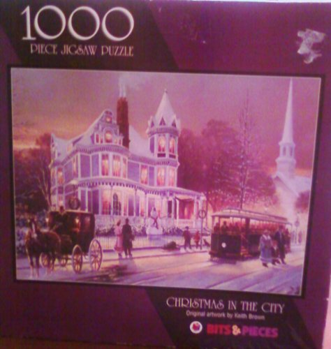 Keith Brown: Christmas In The City 1000 Piece Jigsaw Puzzle - 1