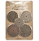 Metal Timepieces by Tim Holtz Idea-ology, 5 per Pack, Various Sizes, Antique Finishes, TH92831
