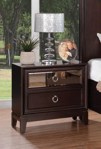 Coaster Home Furnishings 203092 Casual Contemporary Nightstand, Cherry